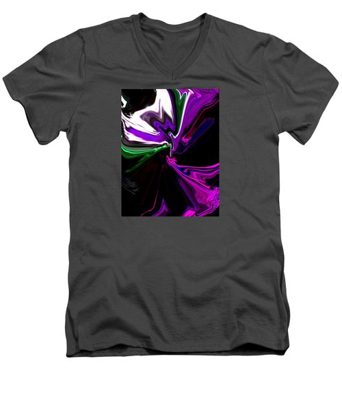 Purple Rain Homage To Prince Original Abstract Art Painting Men's V-Neck T-Shirt by RjFxx at beautifullart com