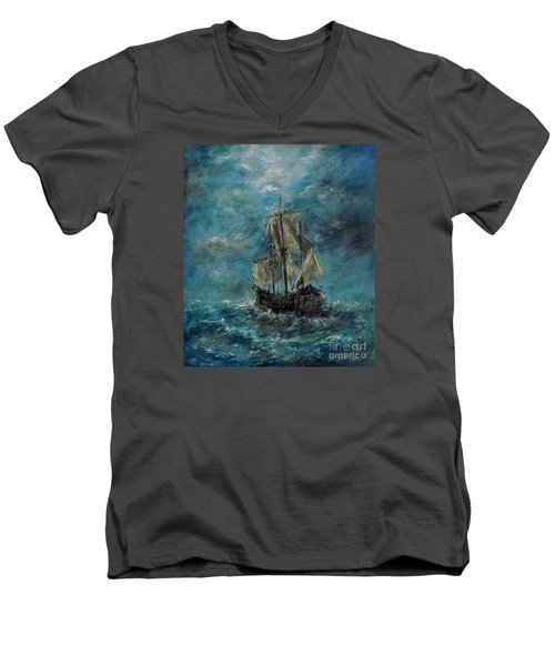 Flying Dutchman Men's V-Neck T-Shirt