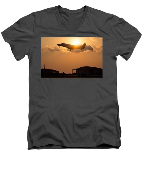 Flying Home Men's V-Neck T-Shirt by Paul Job