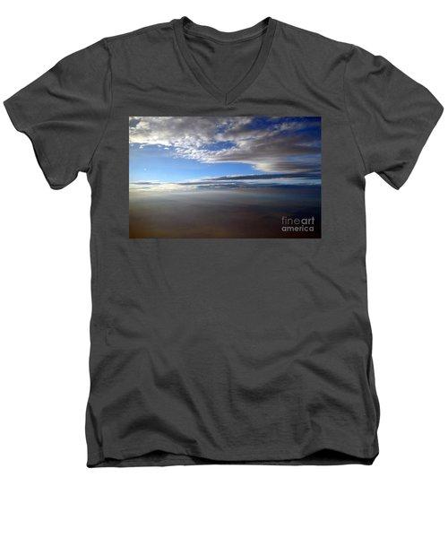 Flying Over Southern California Men's V-Neck T-Shirt