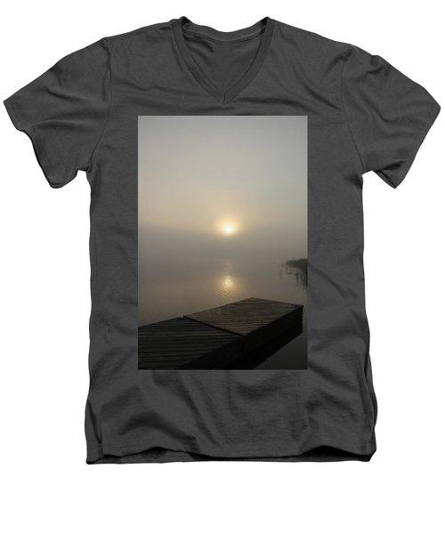 Foggy Reflections Men's V-Neck T-Shirt