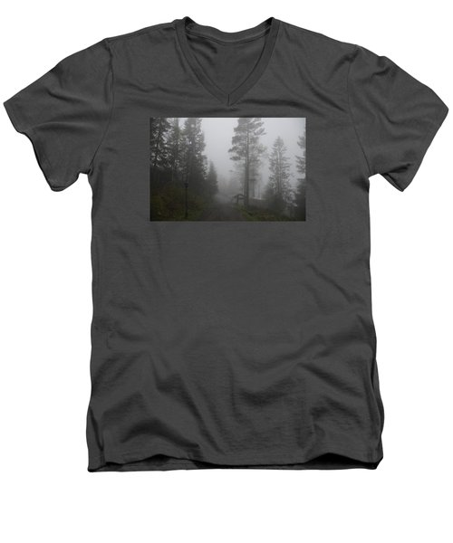 Foggy Romance 1 Men's V-Neck T-Shirt