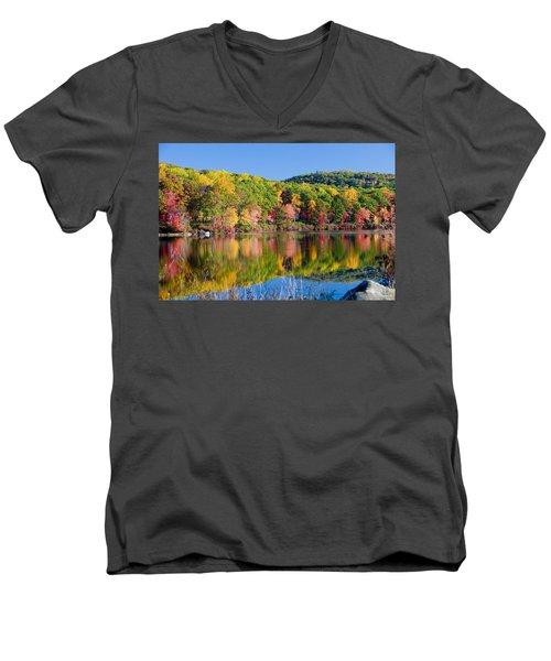 Foilage In The Fall Men's V-Neck T-Shirt