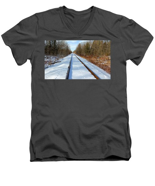 Men's V-Neck T-Shirt featuring the photograph Follow Your Own Path by Debbie Oppermann
