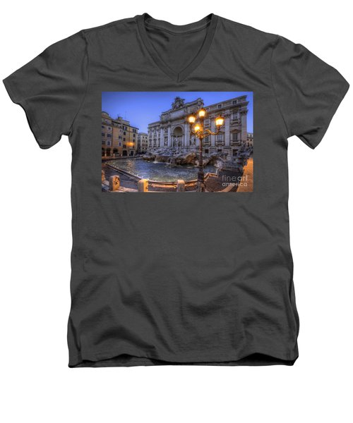 Fontana Di Trevi 3.0 Men's V-Neck T-Shirt by Yhun Suarez