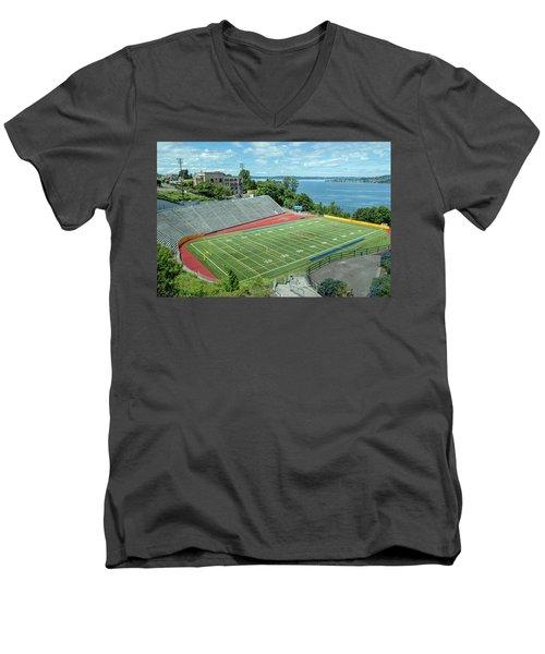 Football Field By The Bay Men's V-Neck T-Shirt