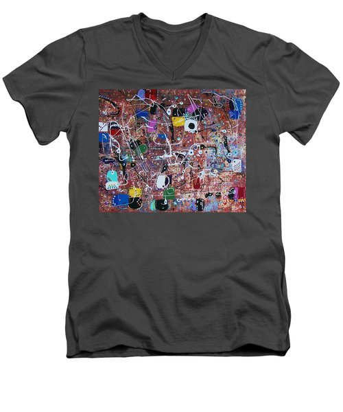 For Computer Geeks With Love Men's V-Neck T-Shirt