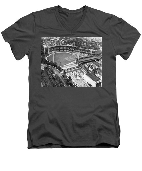 Forbes Field In Pittsburgh Men's V-Neck T-Shirt