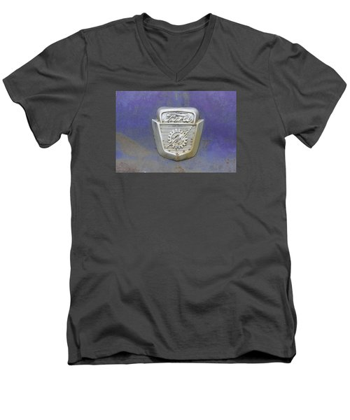 Ford Emblem Men's V-Neck T-Shirt by Laurie Perry