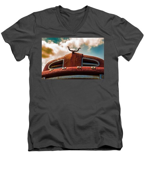 Ford Hood Ornament Men's V-Neck T-Shirt by Bartz Johnson