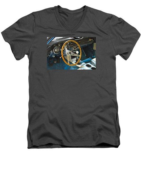 Ford Mustang Shelby Men's V-Neck T-Shirt by Pamela Walrath