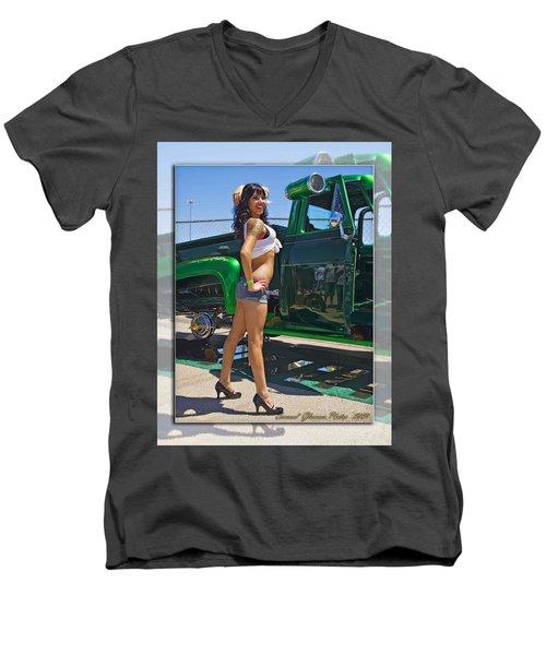 Ford Pick Up_a Men's V-Neck T-Shirt
