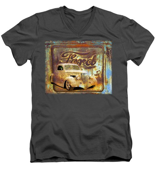 Ford Coupe Rust Men's V-Neck T-Shirt