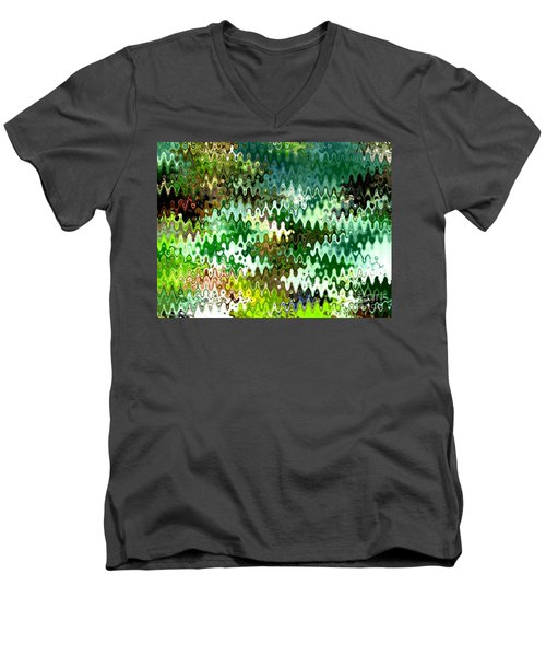 Men's V-Neck T-Shirt featuring the photograph Forest by Anita Lewis