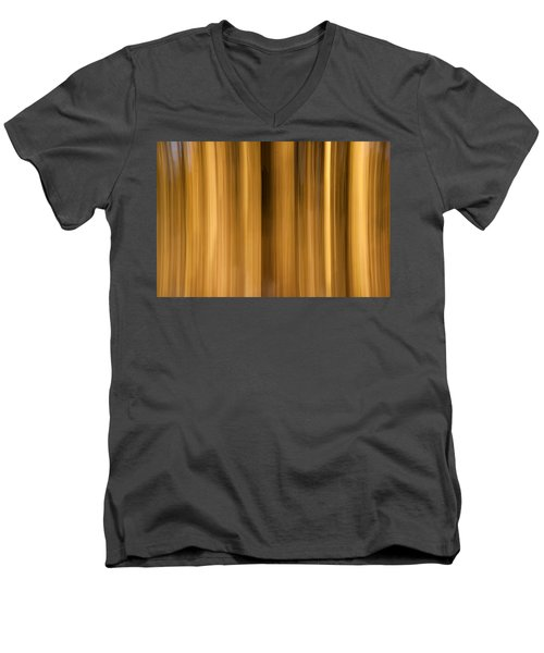 Men's V-Neck T-Shirt featuring the photograph Abstract Forest by Davorin Mance