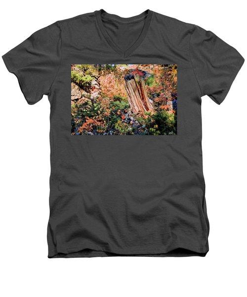 Forest Floral Men's V-Neck T-Shirt