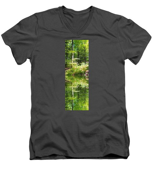 Men's V-Neck T-Shirt featuring the photograph Forest Reflections by John Stuart Webbstock