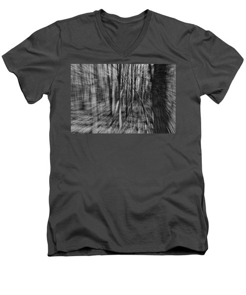 Forest Time B.w Men's V-Neck T-Shirt