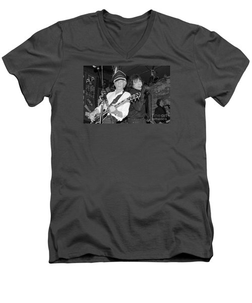 Men's V-Neck T-Shirt featuring the photograph Forever Rock N Roll Young by Steven Macanka