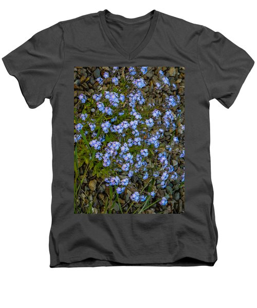 Forget-me-nots Men's V-Neck T-Shirt
