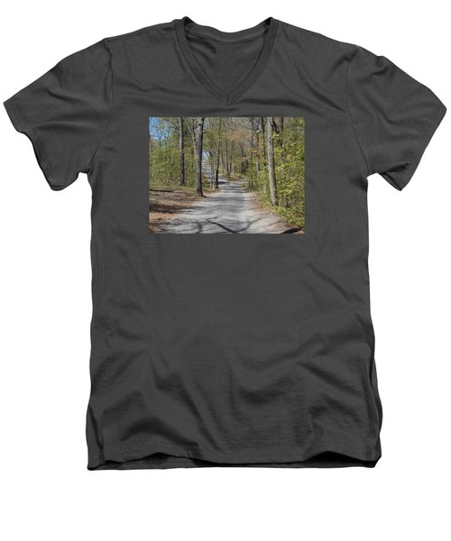 Fork In The Road Men's V-Neck T-Shirt by Catherine Gagne