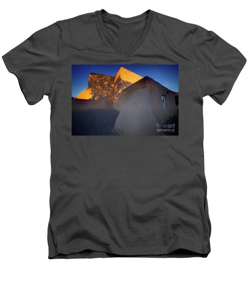 Form And Shadow--san Francisco De Asis - Color Men's V-Neck T-Shirt