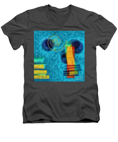 Formes 02b Men's V-Neck T-Shirt by Variance Collections