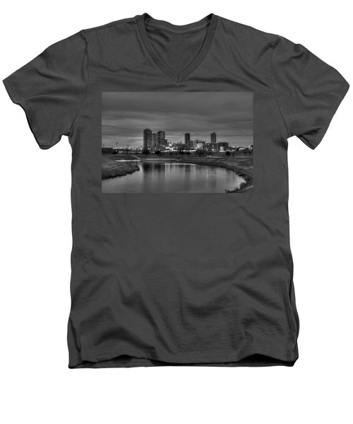 Fort Worth Men's V-Neck T-Shirt by Jonathan Davison