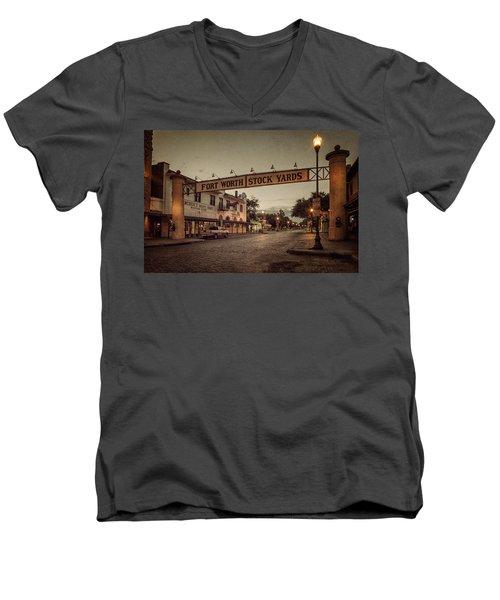 Fort Worth Stockyards Men's V-Neck T-Shirt