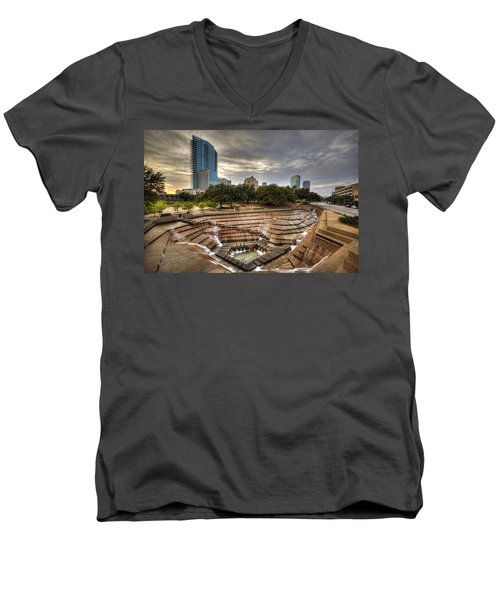 Fort Worth Water Garden Men's V-Neck T-Shirt by Jonathan Davison