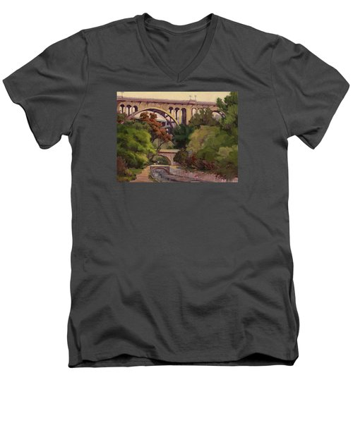 Four Bridges Men's V-Neck T-Shirt