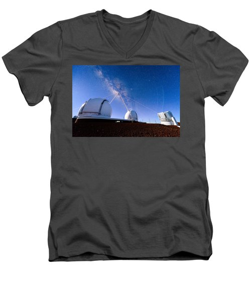 Four Lasers Attacking The Galactic Center Men's V-Neck T-Shirt