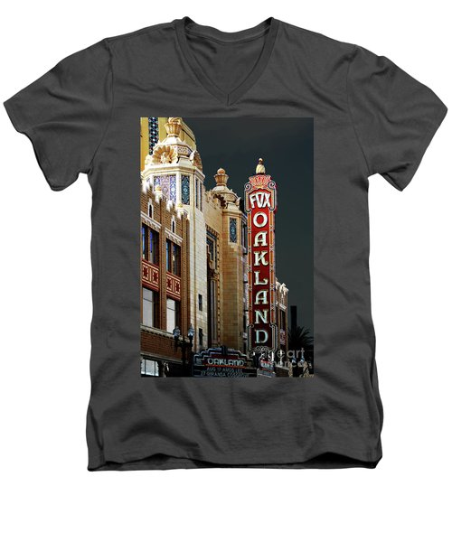 Fox Theater . Oakland California Men's V-Neck T-Shirt