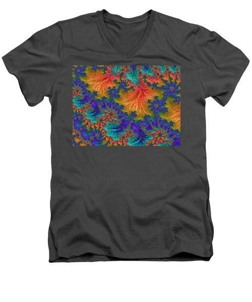 Fractal Jewels Series - Jubilation Men's V-Neck T-Shirt