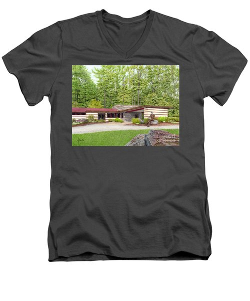 Frank Lloyd Wright At Duncan House Men's V-Neck T-Shirt
