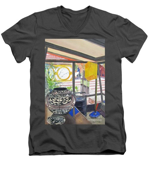 Frank Lloyd Wright Taliesin West Men's V-Neck T-Shirt