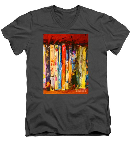 Free Your Mind Men's V-Neck T-Shirt by Claudia Ellis