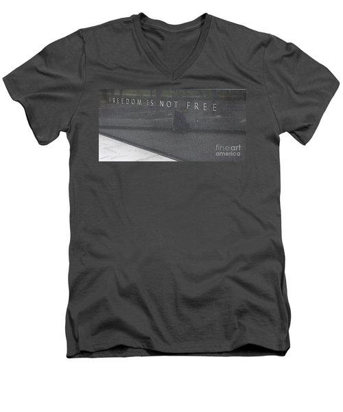 Freedom Is Not Free Men's V-Neck T-Shirt by Steven Ralser
