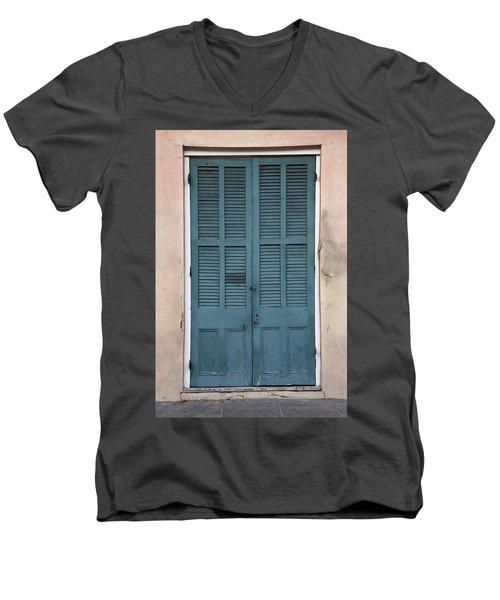 French Quarter Doors Men's V-Neck T-Shirt