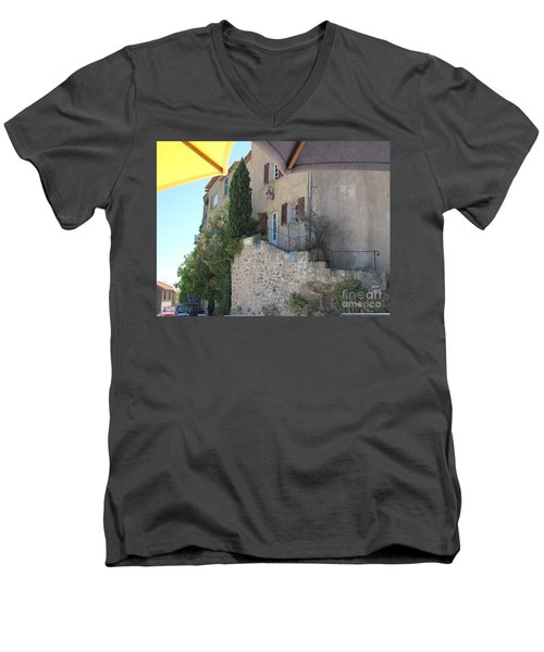 French Riviera - Ramatuelle Men's V-Neck T-Shirt by HEVi FineArt