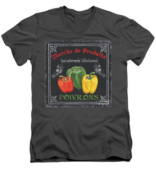 French Vegetables 3 Men's V-Neck T-Shirt by Debbie DeWitt