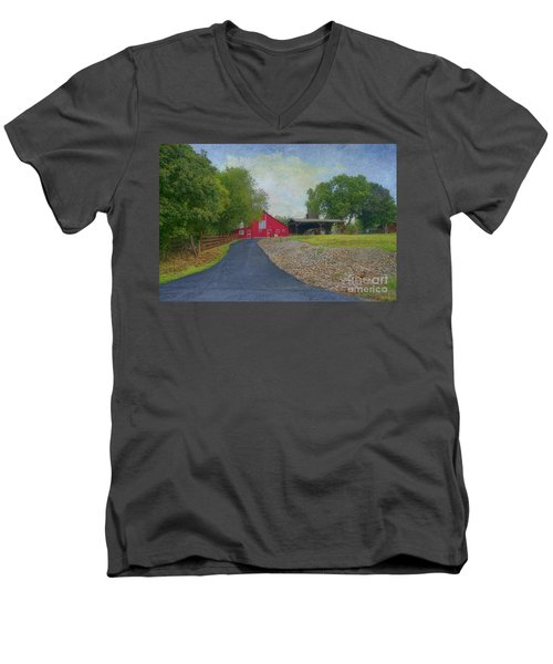 Men's V-Neck T-Shirt featuring the photograph Fresh Country Charm by Liane Wright