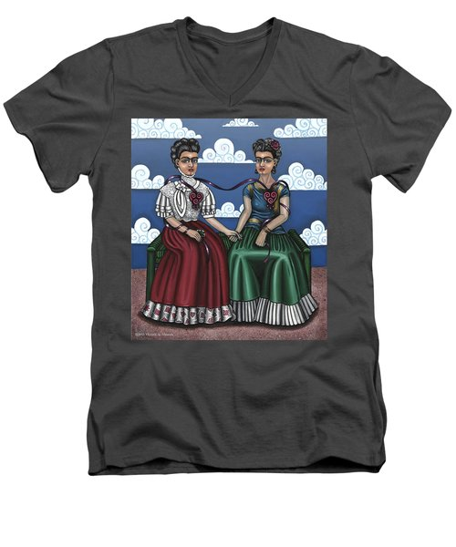 Frida Beside Myself Men's V-Neck T-Shirt