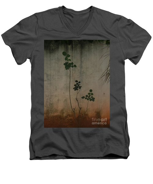 Friendless Rose Bush Men's V-Neck T-Shirt by Mini Arora