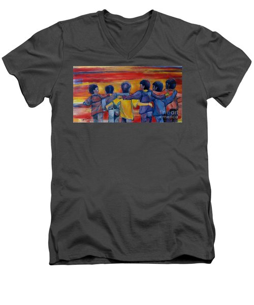 Friendship Walk - Children Men's V-Neck T-Shirt
