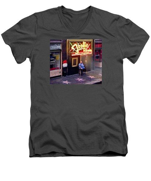 Frolic Room.hollywood Blvd Men's V-Neck T-Shirt by Jennie Breeze