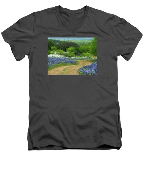 From Here To There Men's V-Neck T-Shirt by Joe Jake Pratt