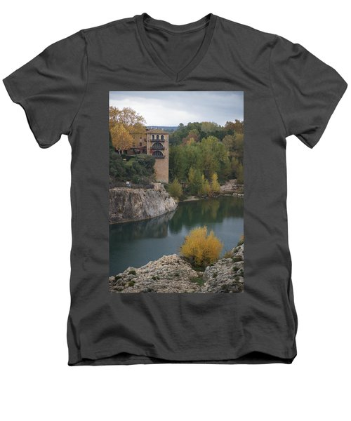 From Pont Du Gard Men's V-Neck T-Shirt