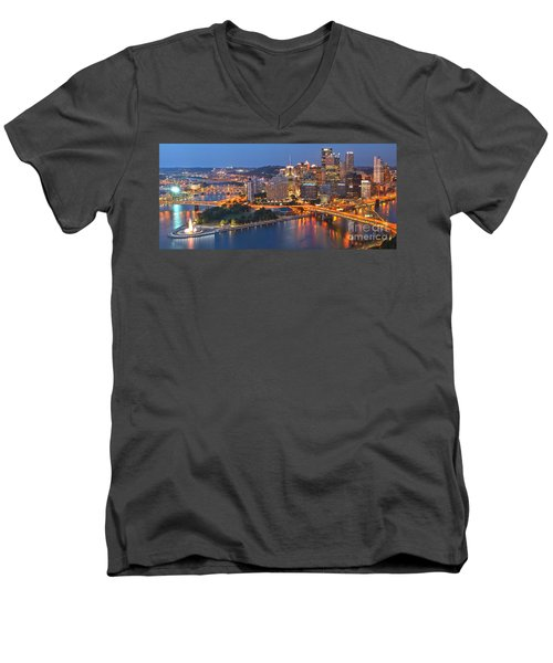 From The Fountain To Ft. Pitt Men's V-Neck T-Shirt