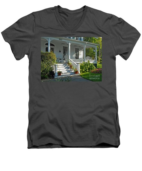 Front Porch In Summer Men's V-Neck T-Shirt by Desiree Paquette